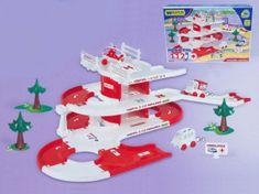 Wader Garáž + dráha Kid Cars 3D Nemocnice plast 4,8m v krabici 59x40x15cm 12m+ Wader