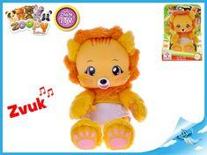 Mikro Trading Zoopy Babies lvíček plyšový 24 cm tlapky svítící ve tmě