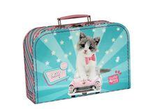 Kazeto Kufřík Kočička Kitty Cute zeleno/růžový 30 cm