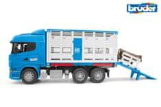 BRUDER 3549 Nákladní auto Scania R pro přepravu dobytka s krávou