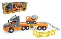 Wader Auto nákladní Super Tech Truck návěs + auto domíchávač Wader
