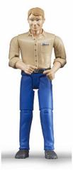 BRUDER Svet - Figúrka muž v modrých nohaviciach