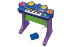 Teddies Piáno/klávesy s bubny plast 58x53x29cm na baterie se zvukem v krabici