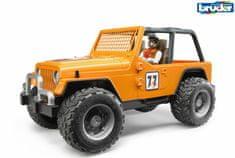 BRUDER Voľný čas - Jeep Cross country oranžový so šoférom 1:16