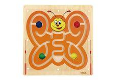 Lamps Dřevěný nástěnný labyrint motýl