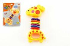 Teddies Chrastítko žirafa plast 15cm
