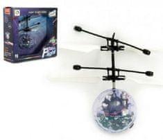 Teddies Vrtulníková koule plast 13x11cm s USB kabelem na nabíjení