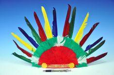 Teddies Čelenka indiánská 60x35cm karneval