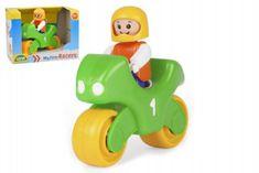 LENA My First Racers motorka + figurka plast 10cm v krabici 15x11x11cm 12m+