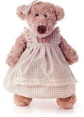 Lumpin Medveď Lumpinka v šatách - karo, stredná 43 cm