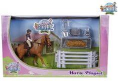 GLOBE Hrací sada jezdkyně s koněm
