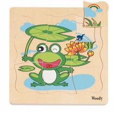Woody Puzzle na doske Vývoj žaby