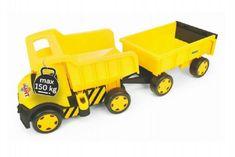 Wader Auto Gigant Truck + vlečka plast v krabici Wader 55x60x32cm