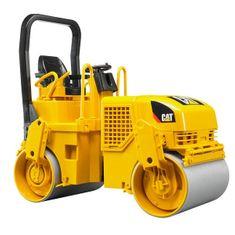 BRUDER Konštrukčné autá - CAT valcovací stroj pri pokladaní asfaltu 1:16