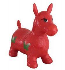 Teddies Hopsadlo kůň skákací gumový červený 49x43x28cm