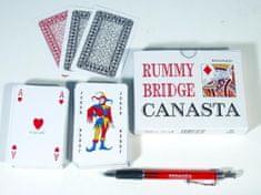 Bonaparte Canasta společenská hra - karty 108ks v papírové krabičce