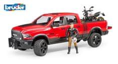 BRUDER 2502 Terénní auto RAM s motocyklem a figurkou
