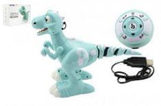 Teddies Dinosaurus RC chodící a tancující plast 30cm