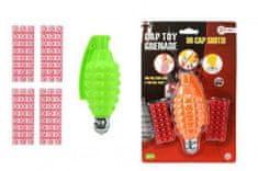 Teddies Ruční granát plast/kov 13cm na kapsle 96ran