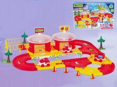 Wader Garáž+dráha Kid cars 3D Hasiči plast 3,1m v krabici 59x40x15cm 12m+ Wader