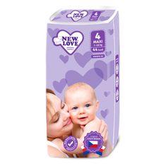 New Love Dětské jednorázové pleny New Love 4 MAXI 7-18 kg 44 ks Premium comfort
