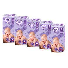 New Love MEGAPACK Dětské jednorázové pleny New Love 3 MIDI 4-9 kg 5x48 ks