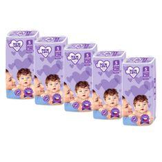 New Love MEGAPACK Dětské jednorázové pleny New Love 5 JUNIOR 11-25 kg 5x38 ks
