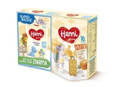 Hami 24+ batoľacie mlieko 2x 600 g + Hami Výletné zeleninové tyčinky Tekvica a Rozmarín 100 g, 10+