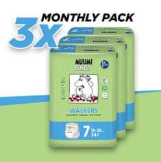 MUUMI BABY mjesečno pakiranje WALKERS 7 Extra Large (16-26 kg) 102 komada (3x34 komada)