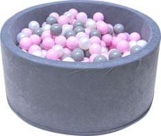 iMex Toys 2884 Suchý bazén s míčky šedý