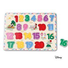 Derrson Disney Velké dřevěné puzzle čísla Mickey