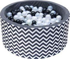 iMex Toys 2860 Suchý bazén s míčky černo-bílý