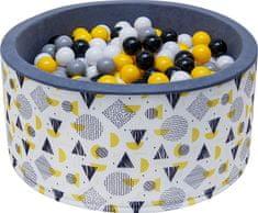 iMex Toys 2907 Suchý bazén s míčky žlutý