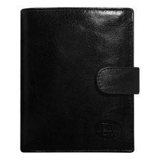 Pierre Andreus Luxusní pánská kožená peněženka černá s cvočkem Gustav