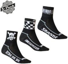Sensor 3 darab Race zokni