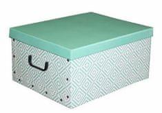 Compactor Skládací úložný box PVC se zipem Nordic 50 x 38.5 x 24 cm, zelený