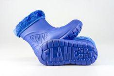 Detské zateplené boty FLAMEshoes D-3001 modré