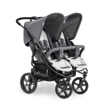 Hauck otroški voziček za dvojčka Roadster Duo SLX 2020, grey/silver, siv/srebrn