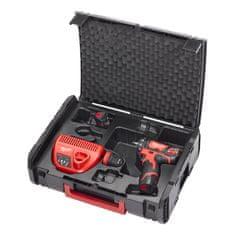 Milwaukee M12 BDDX SET-202X M12™ kompaktný vŕtací skrutkovač s vymeniteľným skľúčidlom