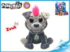 Mikro Trading Punkymals plyšové zvířátko Iggy 18cm na baterie smějící se v krabičce