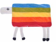 Mikro Trading Polštářek plyšový ovečka s nožičkami 35x22cm na zip