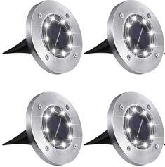 Bezdoteku LEDsolar 8Z vonkajšie svetlo k zapichnutie do zeme 4 ks, 8 LED, bezdrôtové, IPRO, 1W, studená farba