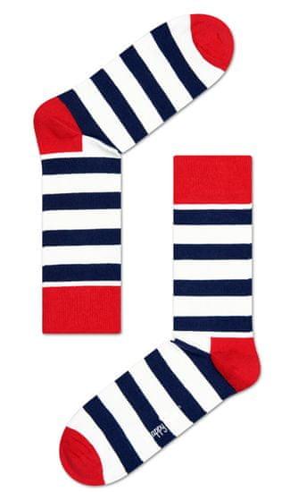 Happy Socks unisex ponožky Stripe Sock SA01-045 41 - 46 bílá