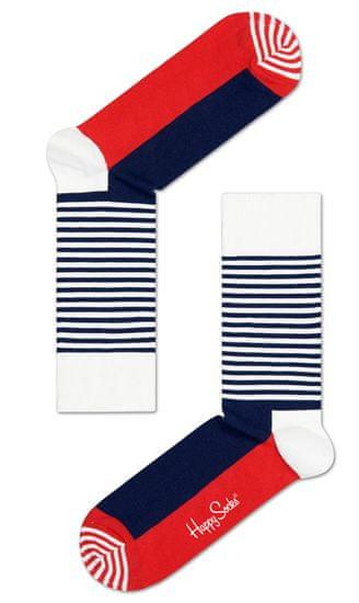 Happy Socks unisex ponožky Half Stripe Sock SH01-068 36 - 40 vícebarevná