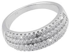 JVD Luksuzni srebrni prstan s kristali SVLSLR027640 srebro 925/1000