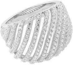 JVD LuksusowySrebrny pierścień z kryształkami SVLML10869F7 srebro 925/1000
