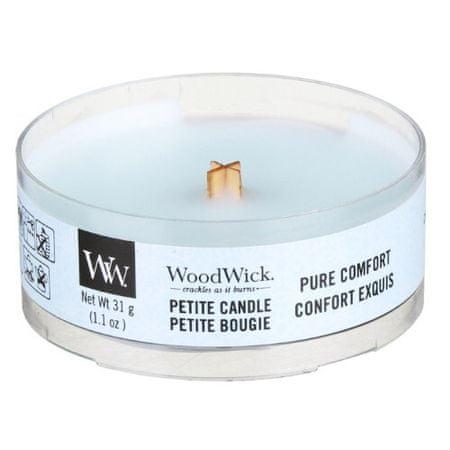 Woodwick Aromatyczna świeczka z drewnianym knotem Pure Comfort 31 g