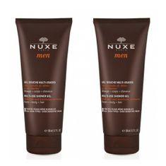Nuxe Sprchový gél na telo, tvár aj vlasy Men (Multi-Use Shower Gel) 2 x 200 ml