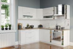 Rohová kuchyně COLBY 190x230, bílý lesk