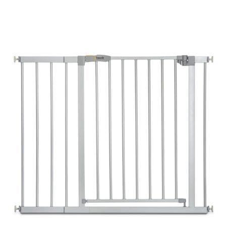Hauck sigurnosna ograda Stop N Safe 2020 + 21 cm produžetka, silver, srebrna